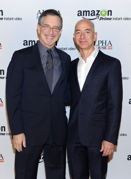 Jeff Bezos with Garry Trudeau