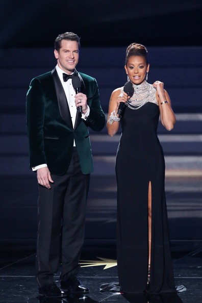 Melanie Brown with Thomas Roberts