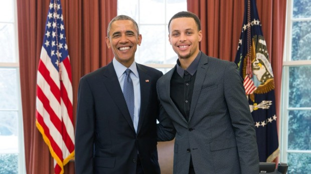 Stephen Curry With Barack Obama