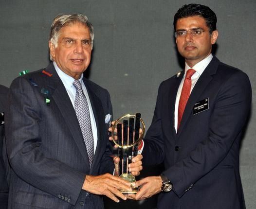 Ratan Tata with Sachin Pilot