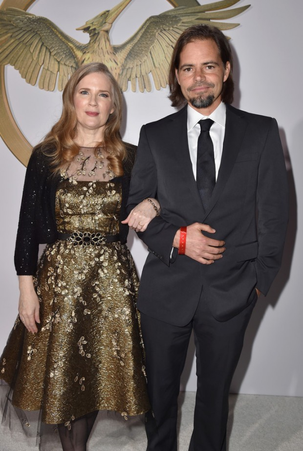 Suzanne Collins and Peter Craig at Mockingjay Premiere