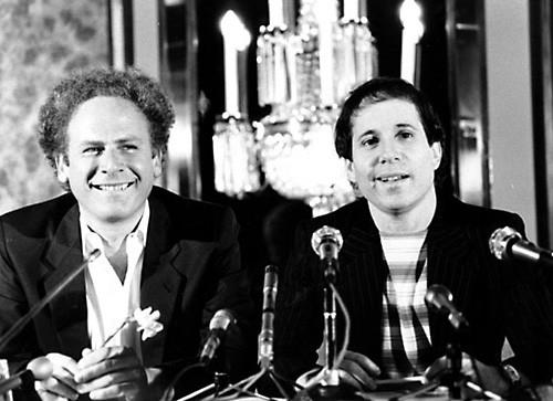 Paul Simon and Art Garfunkel in 1977