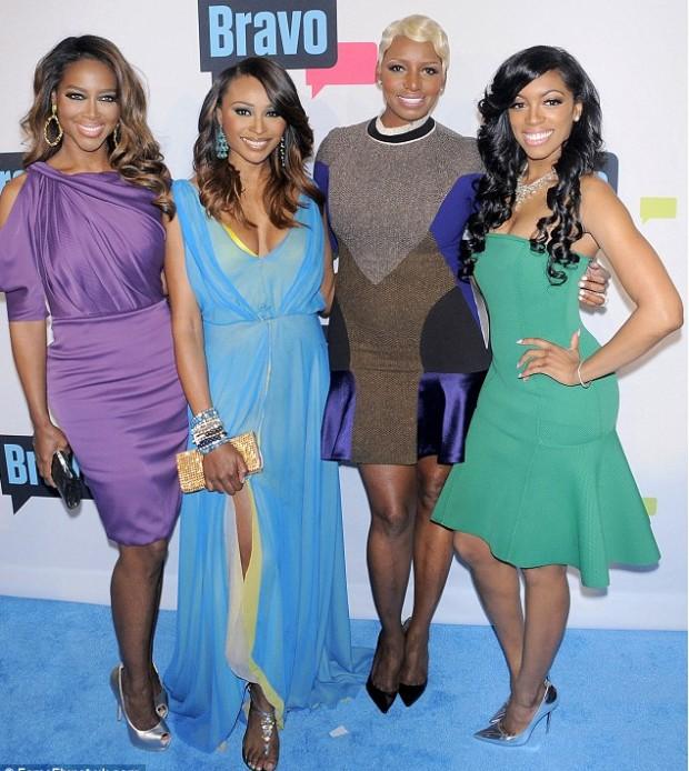 Kenya Moore with Real Housewives Of Atlanta Co-Stars