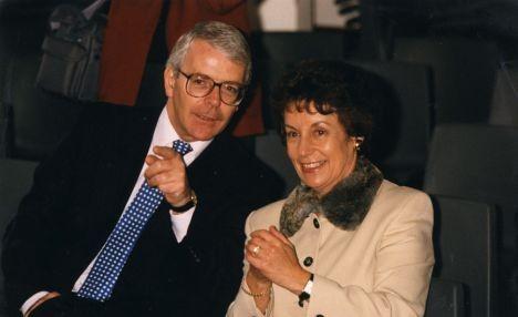 Gillian Shepherd with John Major in 1996