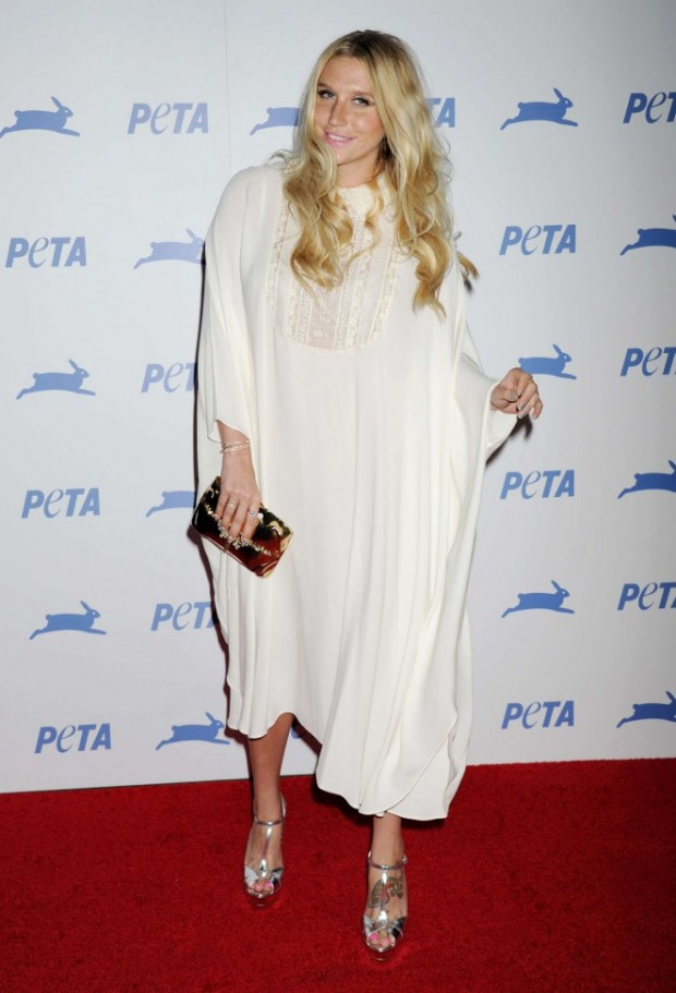 Kesha At PETA's Party