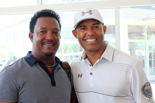 Pedro Martinez with Mariano Rivera
