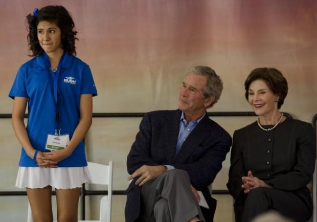 George W., Laura Bush Dedicate Bush Tennis Center