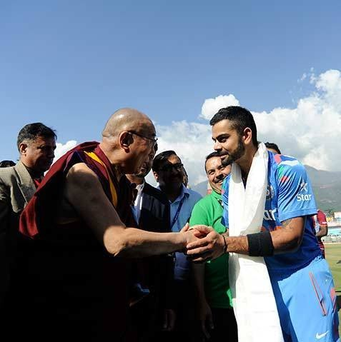 Kohli with Dalailama