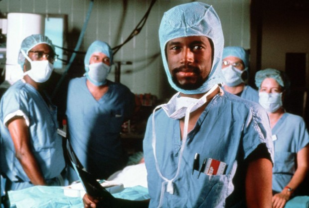 Ben Carson with a Johns Hopkins Surgical Team