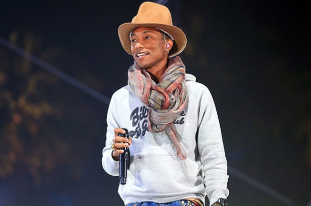 Pharrell Williams Performs On Stage