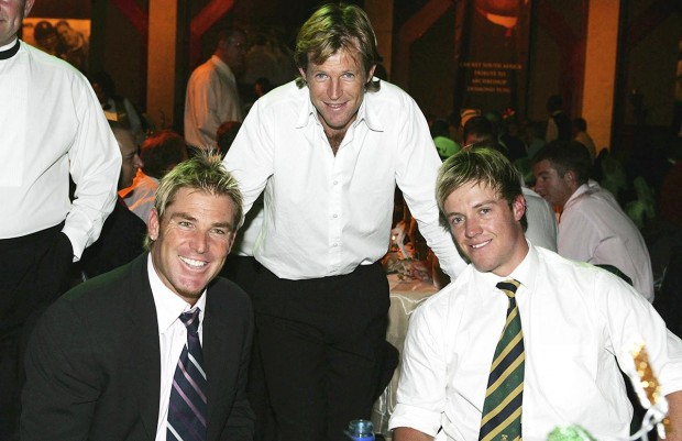 ABD with Shane Warne and Jonty Rhodes