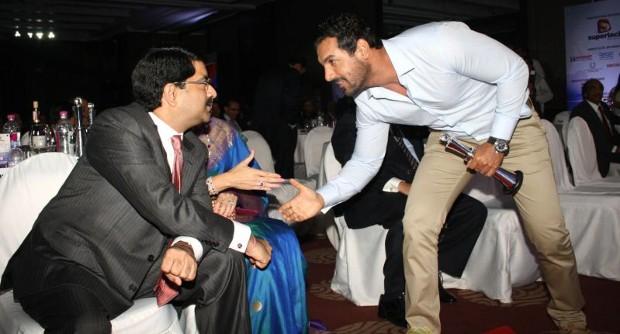 Kumar Mangalam With John Abraham