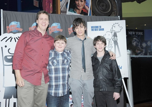 Jeff Kinney with Wimpy Kid Movie Cast