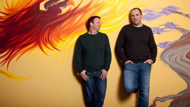 Brian and Jan at Whatsapp Headquarters