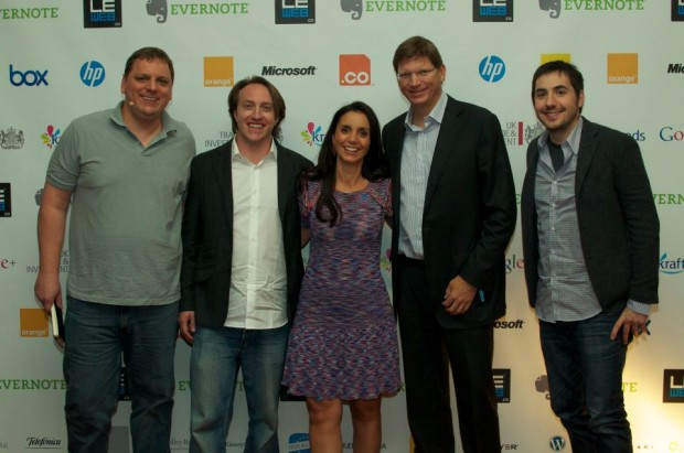 Chad Hurley, Geraldine Le Meur, Niklas Zennstrom and Kevin Rose