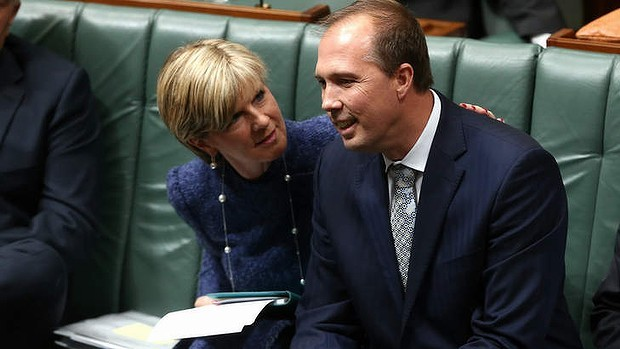 Peter Dutton  and Foreign Affairs Minister Julie Bishop