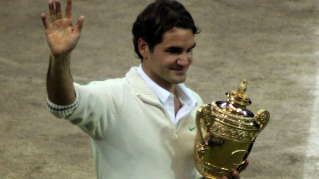 Roger Federer as Wimbledon Champion in 2012