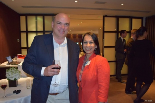 Michael Lynch with Lopa Patel