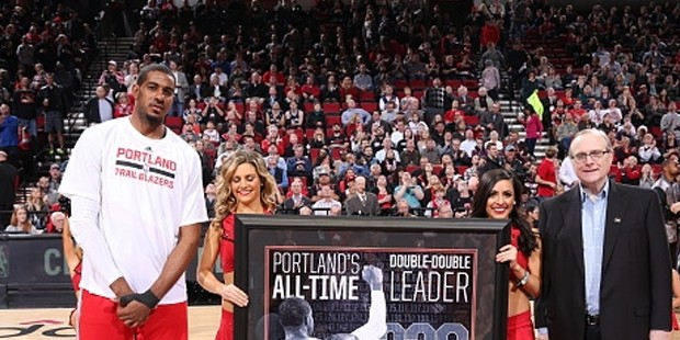 LaMarcus Aldridge Receiving Portland Leader