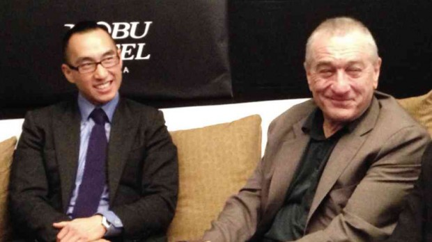 Lawrence Ho With Hollywood Actor Robert De Niro