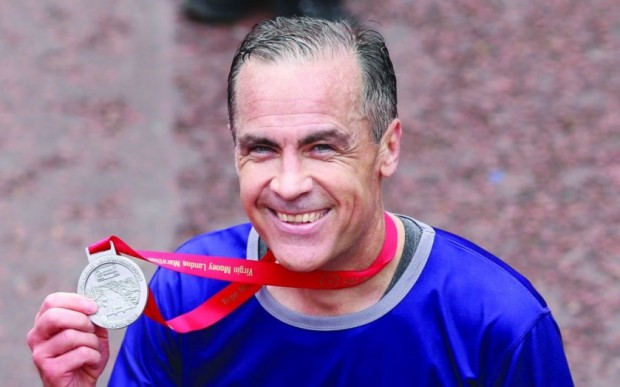 Mark Carney  During London Marathon 2015