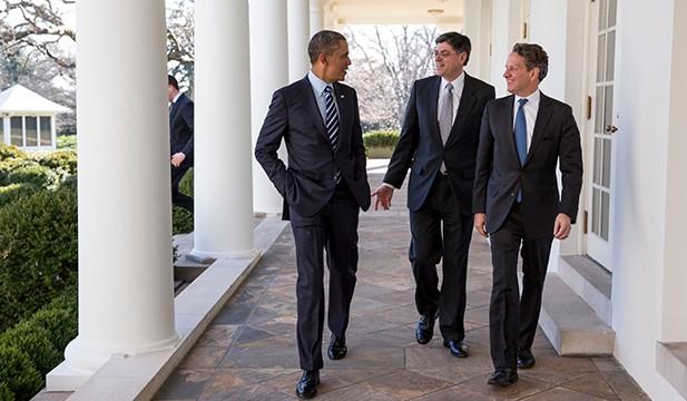 Barack Obama, Jack Lew, and Timothy Geithner