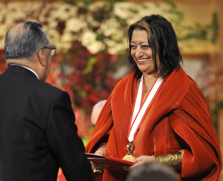 Hadid honored with The Pritzker Award