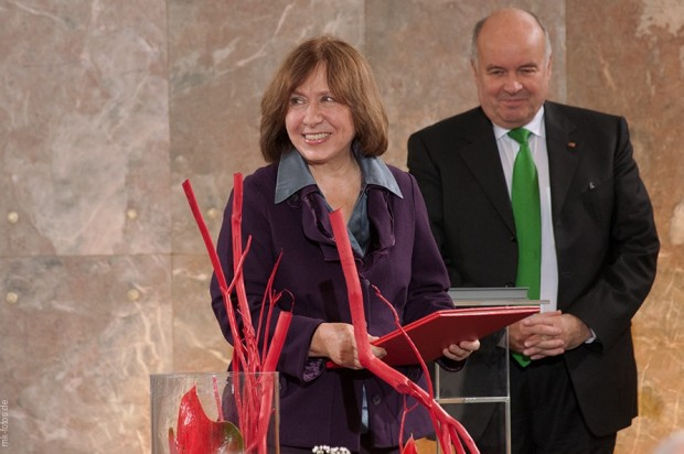 Svetlana Alexievich  During Nobel Prize 2015