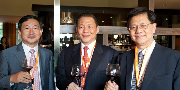 Prof Chang Sea-Jin, Mr Sukanto Tanoto and Prof Bernard Yeung