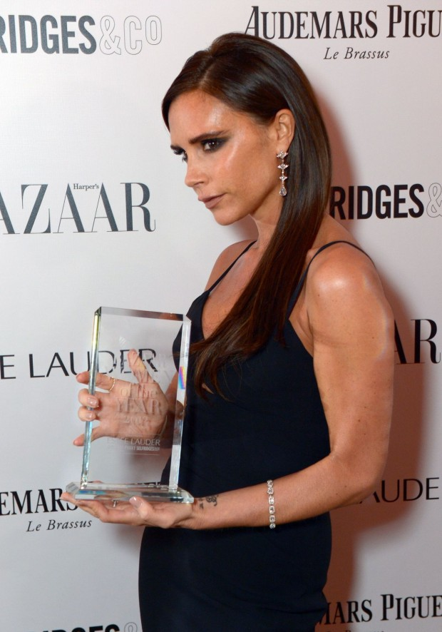 Victoria Beckham at Harpers Bazaar Awards In London