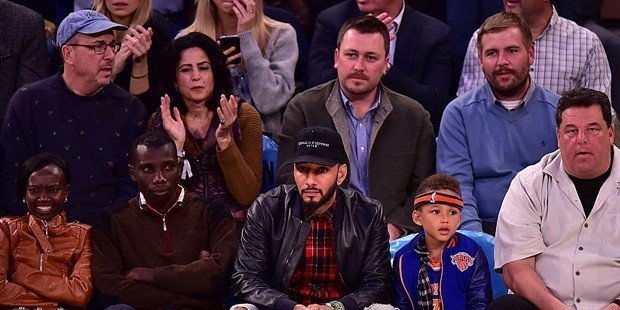 Mary Keitany,Stanley Biwott,Swizz Beatz,Egypt Dean and Steve Schirripa attend the San Antonio Spurs
