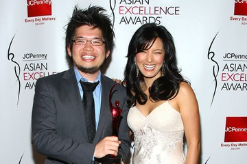 Kelly Hu With Steven Chen During 2008