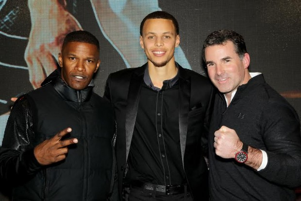 Jamie Foxx, Stephen Curry and Under Armour Founder and CEO Kevin Plank