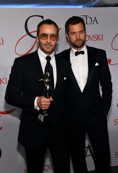 Designer Tom Ford (L) With Joshua Jackson