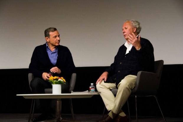 Disney CEO Bob Iger With Vanity Fair Editors