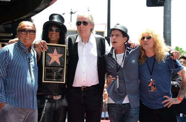 Charlie Sheen, Slash, Robert Evans, Jim Ladd with Steven Adler