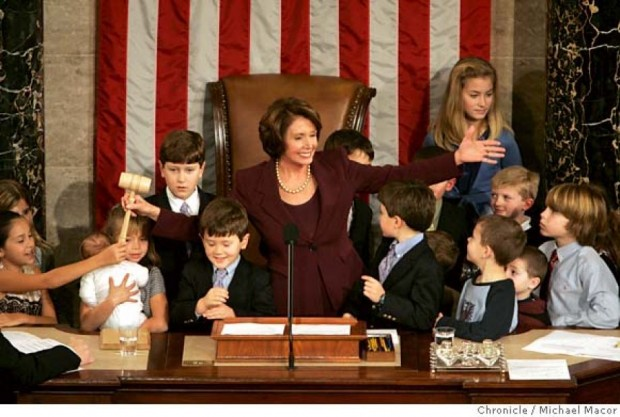 Speaker Pelosi invited children in attendance to join her up on stage