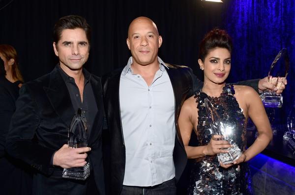Priyanka Chopra, Vin Diesel with John Stamos