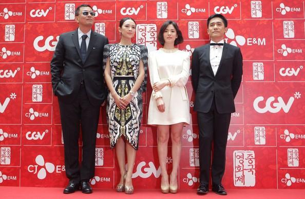 Zhang Ziyi, Tony Leung Chiu-wai, Kar-Wai Wong with Song Hye-kyo