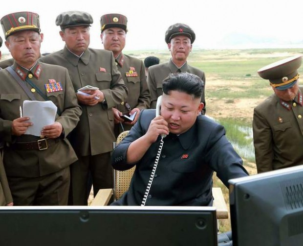 Kim Jong-un at Rocket Testing Area