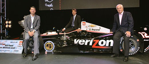 Roger Penske along with Verizon IndyCar Series champion Will Power