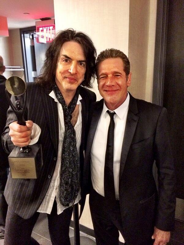 Paul Stanley with Glenn Frey