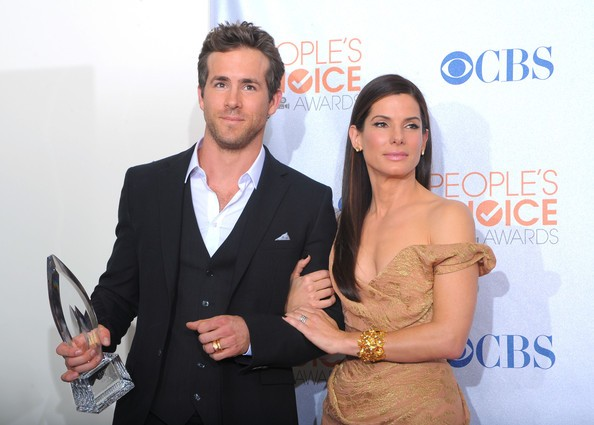Ryan Reynolds with his Peoples Choice Awards
