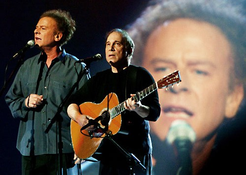 Art Garfunkel And Paul Simon At The 45th Annual Grammy Awards