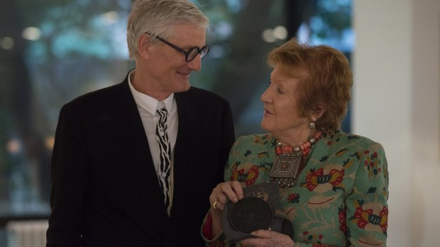 James Dyson Presenting the Provost's Circle Medal to Lady Helen Hamlyn