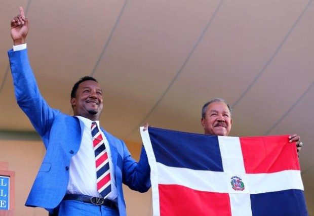 Pedro Martinez during Hall of Fame