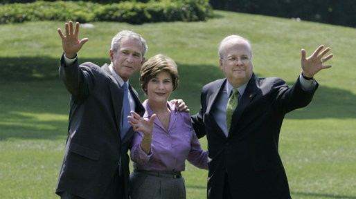 Rove With George W. And Laura Bush