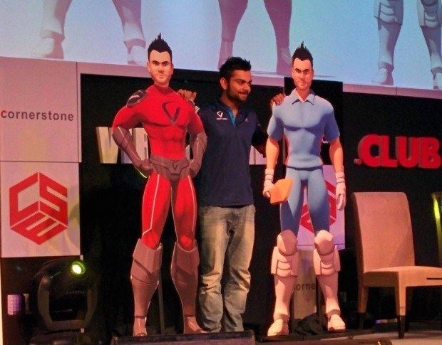 Kohli at His Website Launch