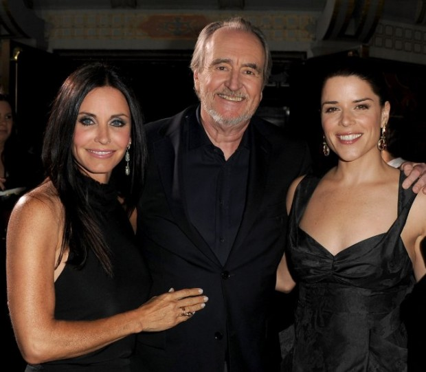 Neve Campbell, Wes Craven And Courteney Cox