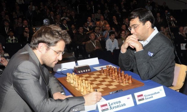 Viswanathan Anand Playing With Levon Aronian